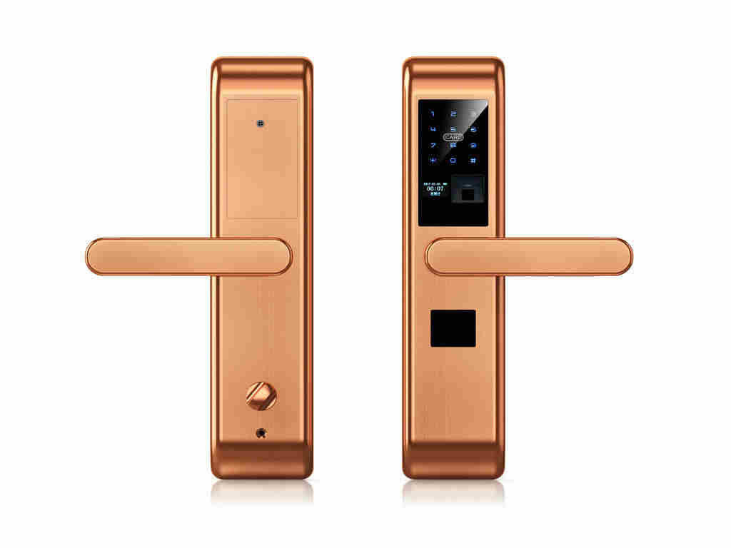 5 Unlock Ways Smart Fingerprint Lock / Biometric Door Lock Door Locks For Fire Doors